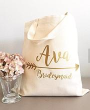 Glitter Gold arrow tote bags Personalized bridesmaid names Champagne Party wedding gift Bags Bachelorette bridal shower favors