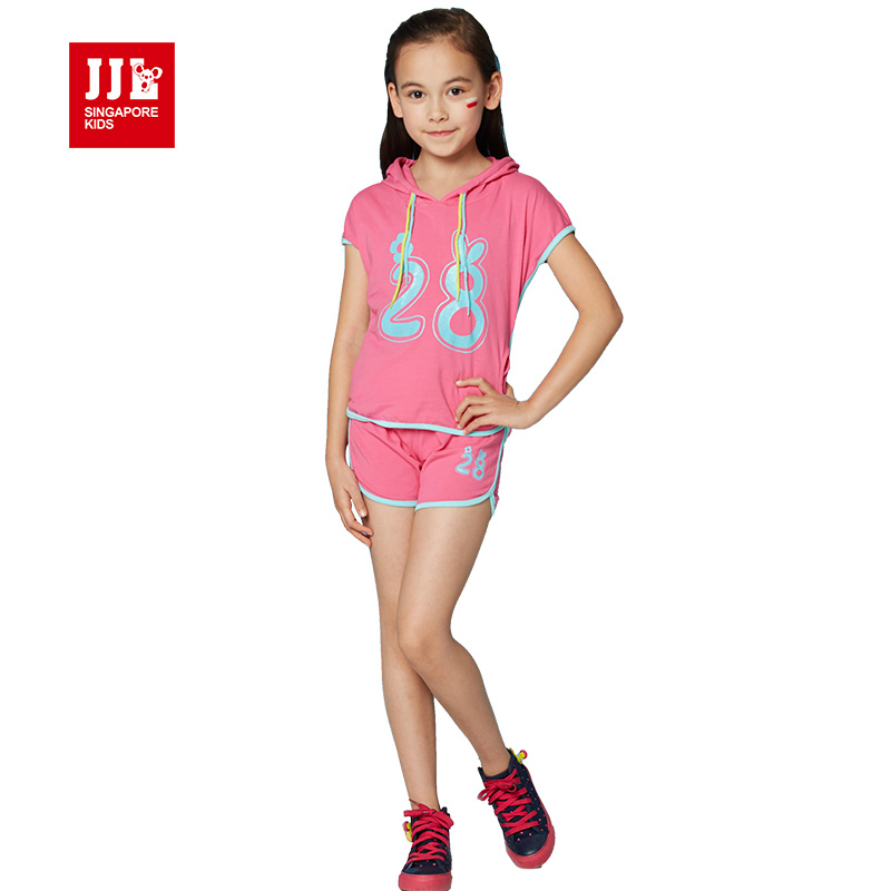 girls clothing set 2017 summer girls clothes kids pullover+short outfits kids tracksuit for children clothing set sport suit<br><br>Aliexpress