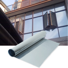 Silver Window Film One Way Mirror Insulation Sticker Solar Reflective Sunscreen Privacy Tint Wall Glass Film 50cmx1m