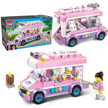 Creative 1112 Blocks Mobile Ice Cream Truck Building Blocks 213+PCS DIY Bricks Boys&Girls Toys For Children Christmas Gift(China)