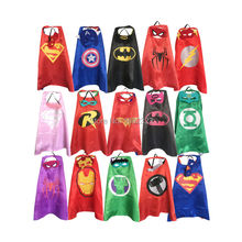 Superhero capes with masks for kids birthday party - birthday party supplies - party favor(China)