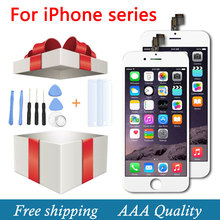 Replacement LCD Display Repair For iPhone 5 5G 5S 6 6s 6p With Touch Screen Digitizer Assembly White And Black+ Film + Tools