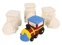 4PCS/LOT,Paint unfinished ceramic train,Draw toys.Home decoration.Family fun.Birthday gift,Kids toys,9.5 x 6 cm.Freeshipping