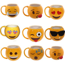 Love smile Cup Mug coffee lovers face(China)