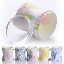 XL 3.8cm Clear Jelly Nail Art Stamper Silicone Head Stamping Flower Handle & 2 Pcs Scrapers Manicure Nail Stamping Tool(China)