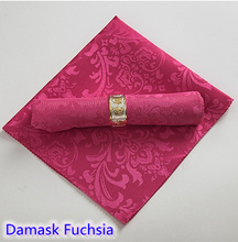 Fuchsia colour napkins jacquard damask pattern napkin for wedding hotel restaurant table decoration wrinkle stain resistant