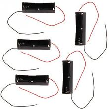 5 Pcs New 18650 Battery 3.7V Clip Holder Box Case Black With Wire Lead Plastic Battery Storage Case Box(China)