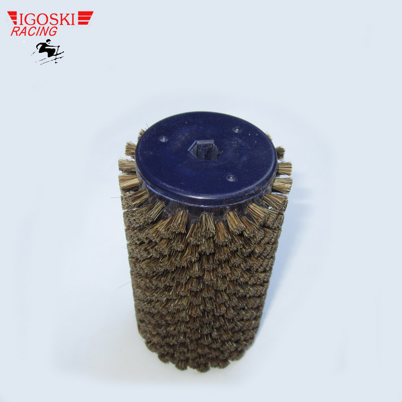 IGOSKI Horse Hair Roto Brush for Cross-Country Ski Waxing Fits 10mm Hex Shaft<br>