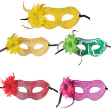 5 Piece Women Sexy Hallowmas Venetian Masquerade Masks with Flower Mask Dance Party  Princess Fancy Dress Wedding Lace Eye Masks