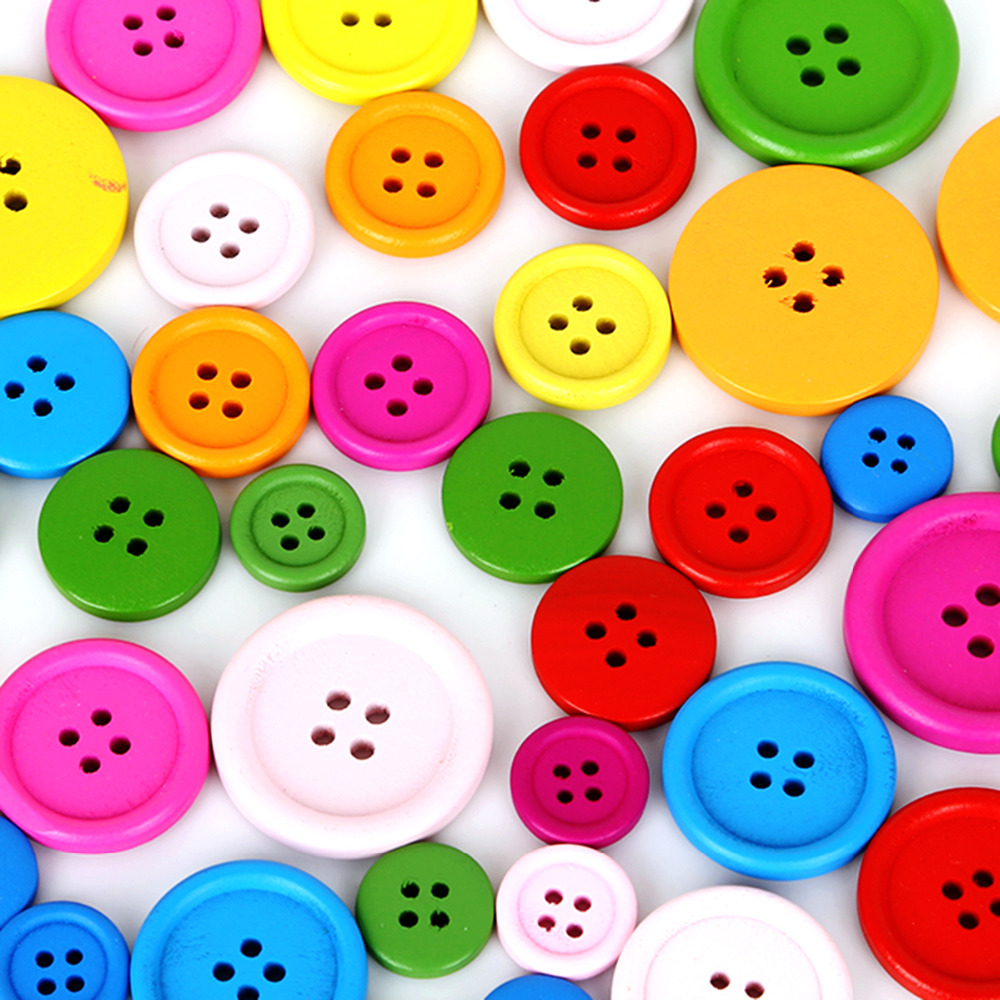 Free DIY 200pcs Mixed Colors Resin Buttons Fit Sewing or Scrapbooking 11mm