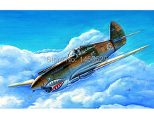 trumpeter 1/72 01632   P-40B/C Warhawk  Assembly Model kits building scale model plane 3D puzzle plane