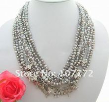 8Strands Grey Pearl Necklace