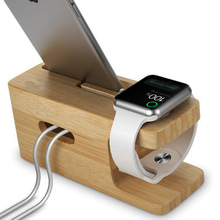 For Apple Watch Stand, Bamboo Wood Charging Stand Docking Station Cradle Holder for iPhone 7 6 6S Plus SE 5S 5C 5(China)