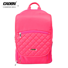 CADeN SLR Camera Shoulder Bags Video Photo Digital DSLR Backpack Rose Red Women Camera Bag for Canon Nikon Sony Pentax Q1 Q2 Q5(China)