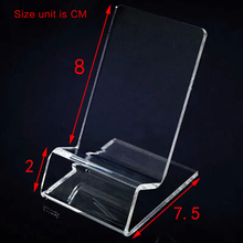 30pcs/lot DHL fast delivery Acrylic Cell phone mobile phone Display Stands Holder stand for 6inch iphone samsung HTC