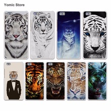 Tropical Tiger with red rose hard White Case Cover for Huawei P7 P8 P9 Lite P9 Plus Mate 9 8 7 S Phone Case