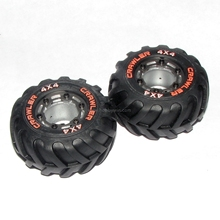 HBX part 24968 Wheels Complete w/Wheel Frames Installed X2P For HAIBOXING 1/24 RC Truck 2098B(China)
