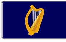 Presidential Flag of Ireland with alternate official state harp design banner Large Outdoor Flag