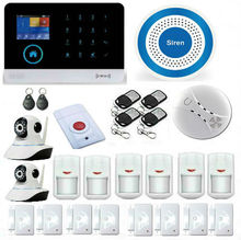 Intelligent App Remote Control Alarm Kit WIFI GSM Alarm Panel With Wireless Blue Siren Home Security Camera Motion Detection
