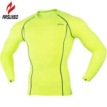 ARSUXEO Cycling Jersey 2017 Bike Bicycle Downhill Sport Compression Basketball Running Shirt Men Baseball Jerseys Clothing 858(China)