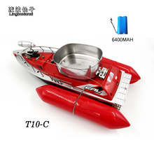 2017 Newest T10-C mini fast electric rc fishing bait boat 280M Remote Fish Finder fishing boat Lure boat RC boat 5Hours/6400MAH(China)