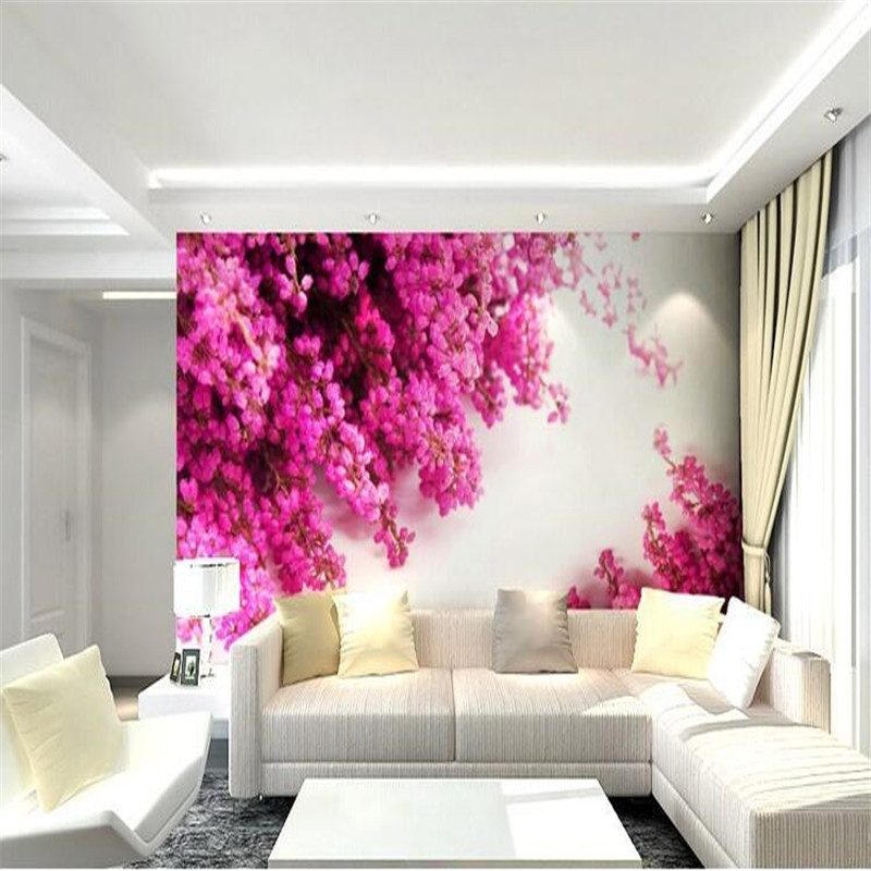 Custom 3d mural wall paper Large living room bedroom mural wall covering seamless pink photo wallpaper painting for living room<br><br>Aliexpress