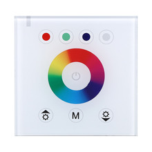 12-24V 4 Channels RGBW LED Light Controller Dimmer Wall-mounted Touch Switch Panel 2 Colors Optional