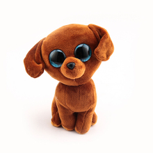 Ty Beanie Boos Original Big Eyes Plush Toy Doll Child Birthday 10 - 15cm Brown Dog TY Baby For Kids Gifts(China)