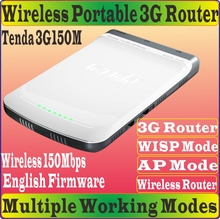 Chinese Firmware Tenda 3G150M Portable 150M Wireless 3G Router N150 Home Travel Beach Hotel WIFI 3G 150Mbps Router AP WISP Mode