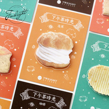 Kawaii Food Cartoon Sticky Notes Creative Notepad Post It Paper Bookmark Sticker Mini Memo Pad Cute Stationery School Supplies