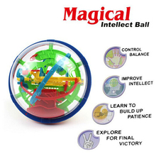 100 Steps Puzzle Ball Small Educational Magical Intellect Ball Marble Puzzles Perplexus Magnetic Balls Maze IQ Teaser Game
