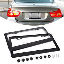 2PCS/Pack Exquisite American Standard Aluminum Alloy 2-hole License Plate Holder License Plate Frame(China)