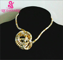 RED SNAKE Necklace Chain Jewelry Bendy Fashion Flexible Silver-Gold-color Mixed Snake Necklace 90cm*6mm Retail for $25.99