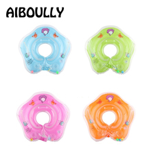 Newborn Floats Swim Ring Baby Neck Ring Inflatable Toys Infants Young Childrens Inflatable Wheel For Navigation Floating Ring(China)