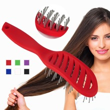 New High Quality Salon Pro Plastic Hair Brush Vented Comb For Home Hairdressing Tool 3 Colors