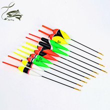 FISH KING 10PCS/Lot 1g-5g Multi Color Day Night Fishing Float Bobbers  Pesca Boias Floats For Fishing Accessories