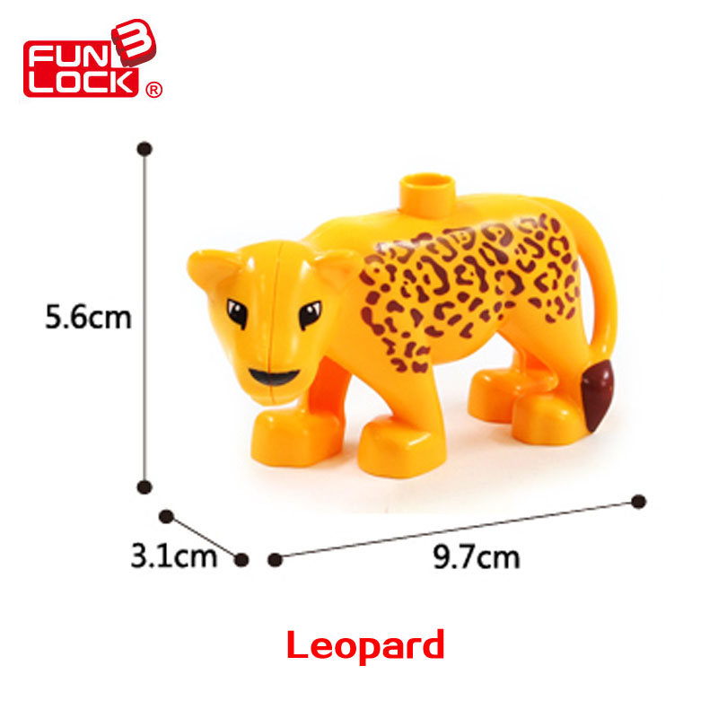 Jungle Animal Gold Leopard Duplo Blocks Toy For Kid Gift <br><br>Aliexpress