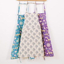 1Pcs Deer Tree Pattern Apron Woman Adult Bibs Home Cooking Baking Coffee Shop Cleaning Aprons Kitchen Accessories 46028(China)