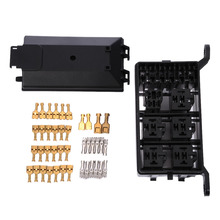 Auto Fuse Box 6 Relay Holder 5 Road The Nacelle Insurance Car Insurance Fuse Holder Box For Car Vehicle Circuit Blade(China)