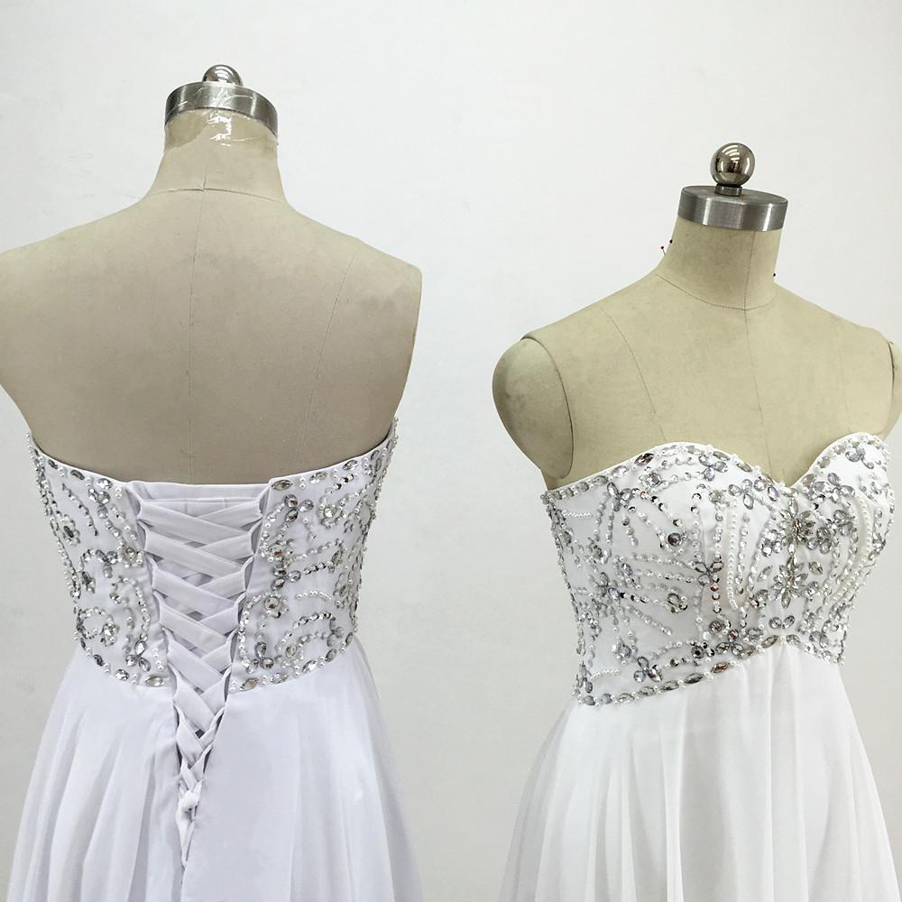 Sexy Chiffon A Line Beach Wedding Dresses Vintage Boho Cheap Bridal Gowns Vestidos De Novia Robe De Mariage Bridal Gown in stock 7