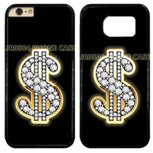 Dollar Sign Bling Diamonds Rock Hard Cell Phone Case Cover Fits For iphone 4 4s 5 5s 6 6s 6 plus 7 7 plus ipod Touch5 6 #T0239(China)