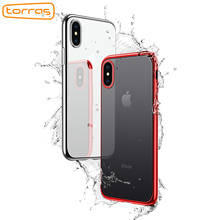 TORRAS Shining Plating Mobile Phone Case for iPhone X Protective Shell Case Thin Silm Soft Back Cover TPU Case for iPhone 10(China)