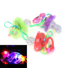 Party Cosplay Baby Led Pacifier Whistle Promotion Shiny Nipple Party Festive Decoration Accessorie Glow Party Supplies(China)