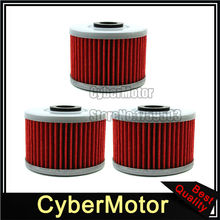 3x Oil Filter For Honda CBR250R CRF250L XR650L Kawasaki KLX140L KLX110L KLX125