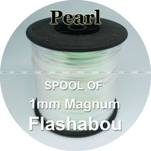 Fly-Jig Tinsel Lure Fishing Flash Spool-Of-Flashabou Metallic 1mm Holographic Mylar Magnum