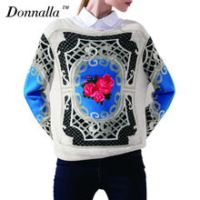 Buy Autumn Winter Sweaters Casual Women Sweater Coat Print O-Neck Long Sleeve Women Clothes Loose Pullovers Clothing Tops for $30.22 in AliExpress store