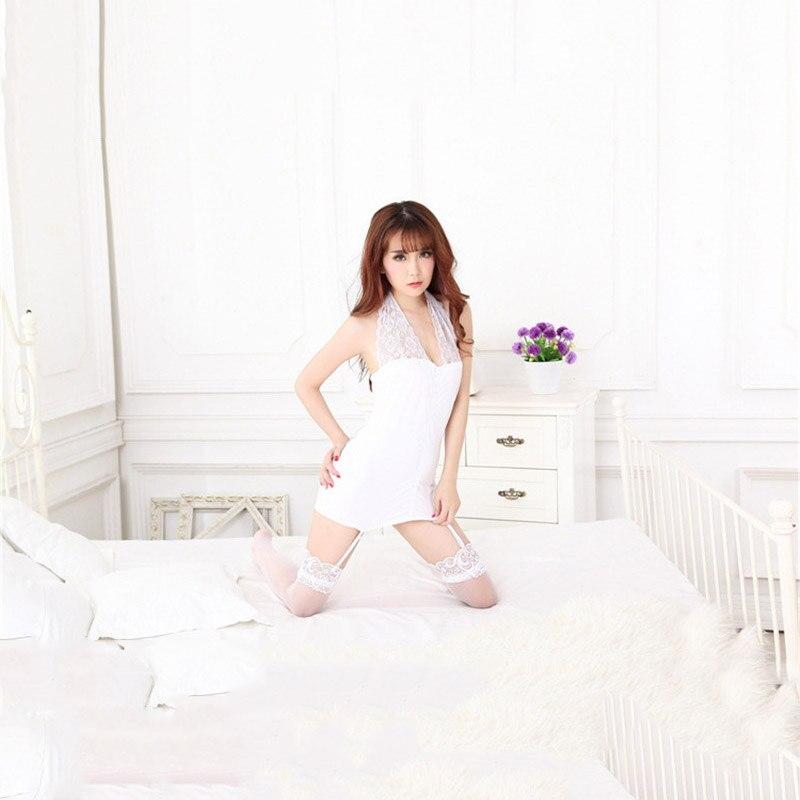 Fashion Women Clothes Suspender Night Deep V Nylon Nightgowns Sleepwear Sleepshirts Robes  Bedroom Girl Lover Gifts