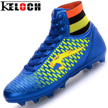 Keloch 2017 Mens Football Boots Cleats Long Spikes Soccer Boots Outdoor Training Soccer Shoes Chuteira Futebol Sport Size34-44