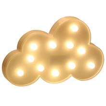 AGM Blue Warm White Cloud High Light Table Lamp 3D Cloud LED Battery NightLight For Kid Children Gift Bed Room Atmosphere Light