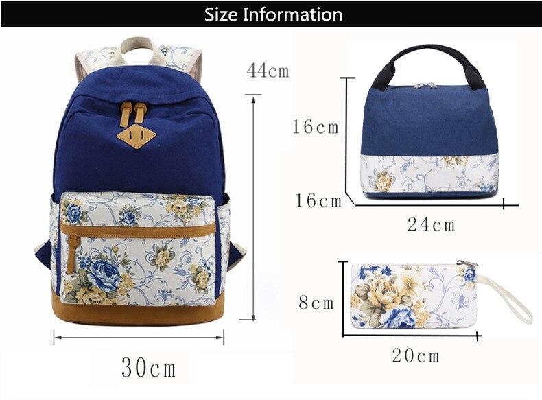 حقيبة مدرسية للفتيات قماش 1